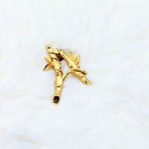 "Sarah Coventry Monogram ""A""  Pin Brooch Goldtone"